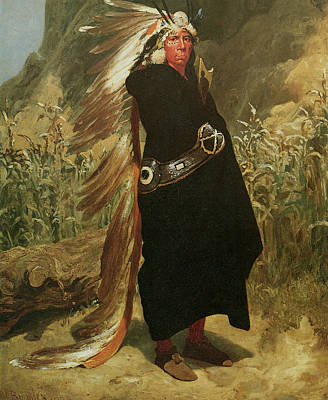 Portrait Of An Indian Chief Poster