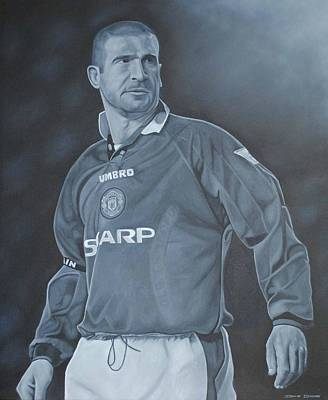 Poster featuring the painting Eric Cantona I by David Dunne