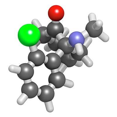 Esketamine Drug Molecule Poster