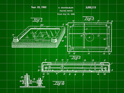 Etch A Sketch Patent 1959 - Green Poster by Stephen Younts