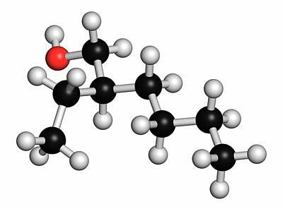 2-ethylhexanol Molecule Poster by Molekuul