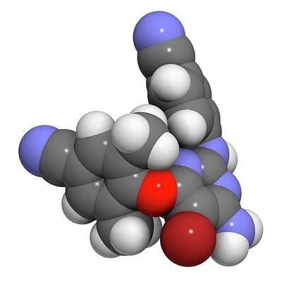 Etravirine Hiv Drug Molecule Poster