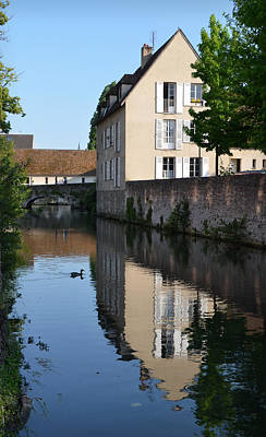 Eure River In Chartres Poster