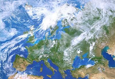 Europe From Space Poster by Detlev Van Ravenswaay