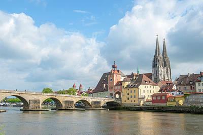 Europe, Germany, Bavaria, Regensberg Poster by Jim Engelbrecht