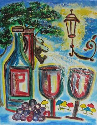 Poster featuring the painting European Wine by Diane Pape