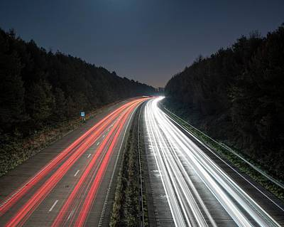 Evening Rush Hour On Motorway Poster