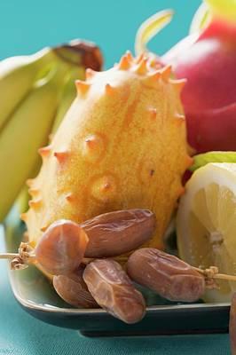 Exotic Fruit Still Life Poster