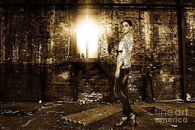 Fashion Model In Jeans  Poster