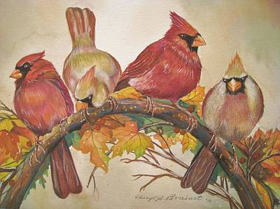 Feathered Friends Poster by Cheryl Borchert