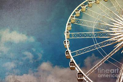 Ferris Wheel Retro Poster by Jane Rix