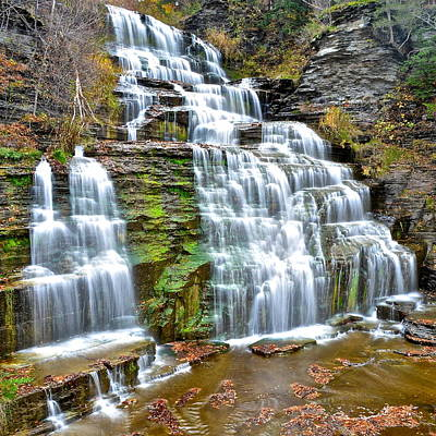 Finger Lakes Waterfall Poster by Frozen in Time Fine Art Photography