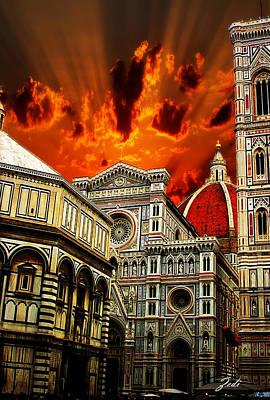 Firenze La Cattedrale Di Santa Maria Del Fiore - Florence The Cathedral Of Santa Maria Del Fiore Poster