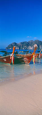 Fishing Boats In The Sea, Phi Phi Poster