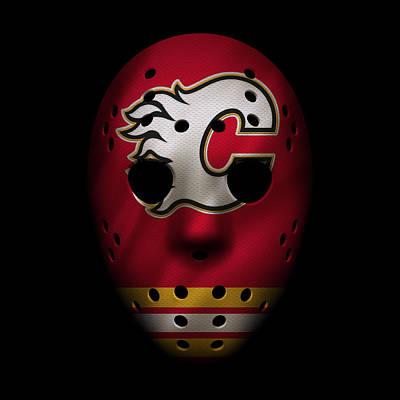 Flames Jersey Mask Poster by Joe Hamilton