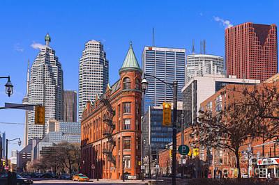 Flatiron Building In Toronto Poster by Les Palenik