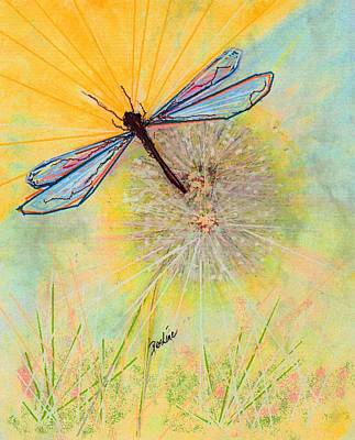 Poster featuring the pastel Flight by Desline Vitto