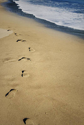 Footprints Poster by Les Cunliffe