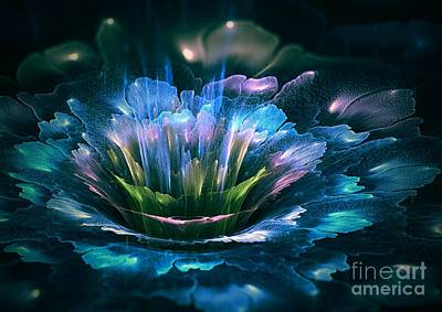 Fractal Flower Poster by Martin Capek