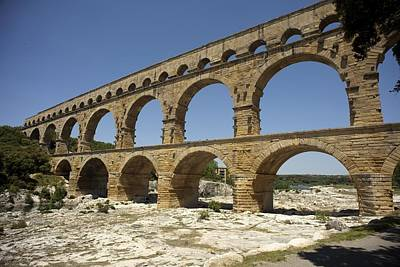 France. Vers-pont-du-gard. Roman Poster