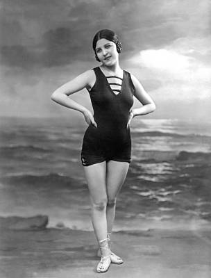 French Woman In A Bathing Suit Poster