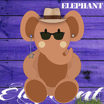 Friendly Elephant Art Poster by Marvin Blaine
