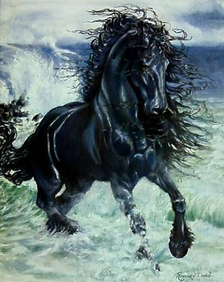 Friesian Storm Poster