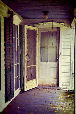 Front Door Of Abandoned House Poster by Jill Battaglia