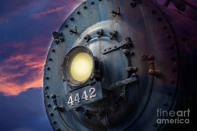 Front Of Locomotive Poster by Gunter Nezhoda