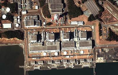 Fukushima Nuclear Power Plant Poster by Digital Globe
