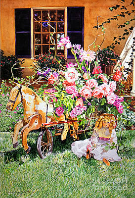 Garden Party Poster by David Lloyd Glover