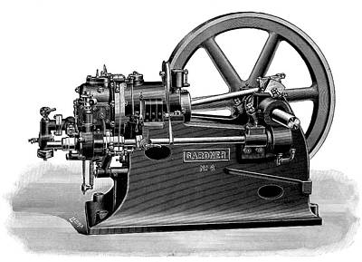 Gardner Gas Engine Poster by Science Photo Library