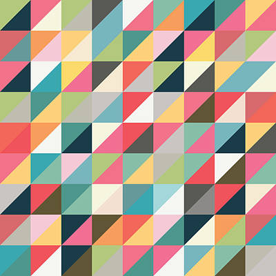 Geometric Art Poster by Mike Taylor