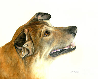 Poster featuring the painting German Shepherd Dog by Nan Wright