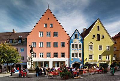 Germany, Bavaria, Fussen Poster by Walter Bibikow