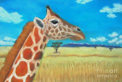 Giraffe Dreaming Poster