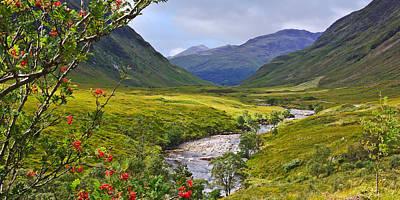 Glen Etive Scotland Poster by Jane McIlroy