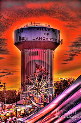 Glowing Water Tower Poster