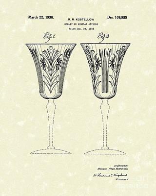 Goblet 1938 Patent Art Poster by Prior Art Design