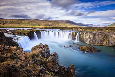 Godafoss Waterfall Poster