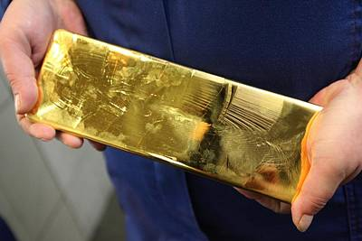 Gold Refinery Poster by Science Photo Library