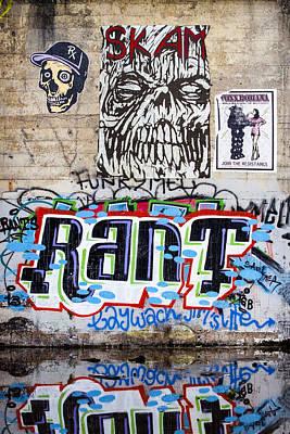 Graffiti Poster by Carol Leigh