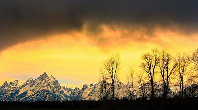 Poster featuring the photograph Grand Tetons Wyoming by Amanda Stadther