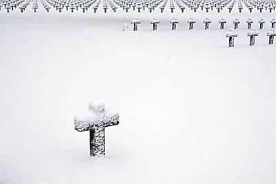 Graveyard In Snow Poster by Dirk Ercken