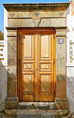 Greek Door Poster by John Babis