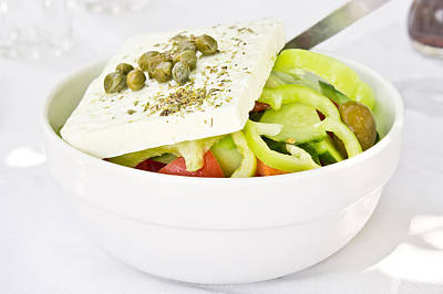 Greek Salad Poster by Tom Gowanlock