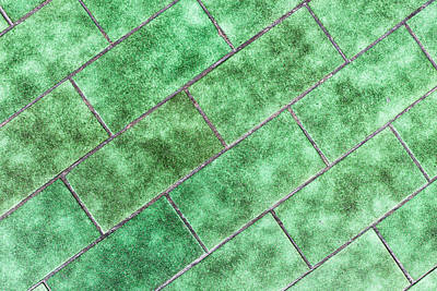 Green Tiles Poster by Tom Gowanlock