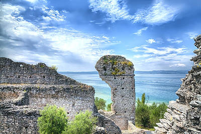 Grotto Catullus In Sirmione At The Lake Garda Poster