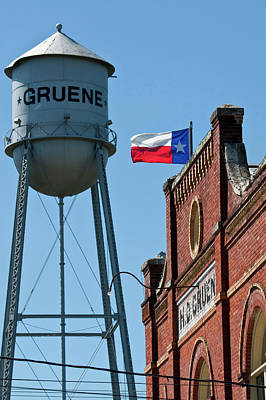 Gruene, New Braunfels, Texas Historic Poster by Larry Ditto