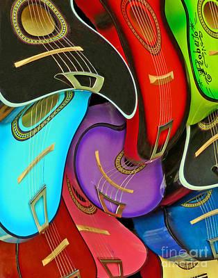 Guitar Swirl Poster